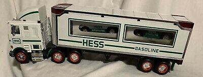 1997 Hess Toy Truck Tractor Trailer & 2 Racers