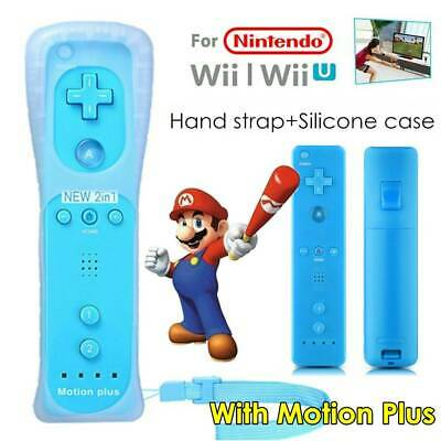 With Motion Plus Inside Remote Controller For Nintendo Wii / Wii U Wiimote +Case