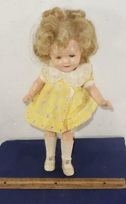 "Vintage Shirley Temple 13"" Composition Ideal Doll Original Outfit !"