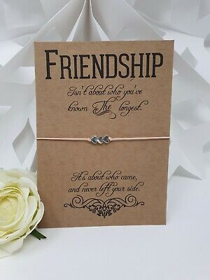 Wish Bracelet Card String Charm Friendship Inspirational - always by your side