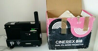 CINEREX 818 DUAL 8mm PROJECTOR BOXED AND WORKING