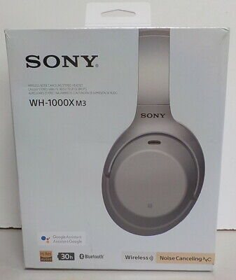 Sony WH-1000XM3 Platinum Silver Bluetooth Wireless Noise-Cancelling Headphones