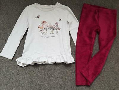 Lovely 2 Piece Outfit, Long Sleeve Sequin Motif Top & Leggings, 3-4 Years