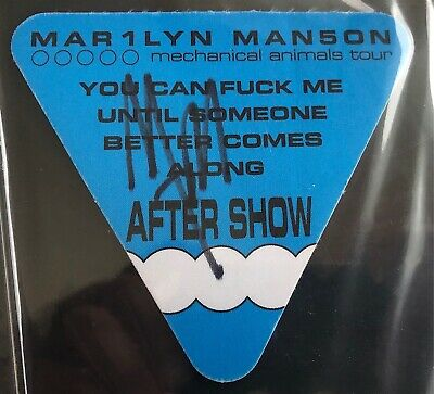Marilyn Manson Signed After Show Ticket Rock Star Musician Autograph PSA/DNA