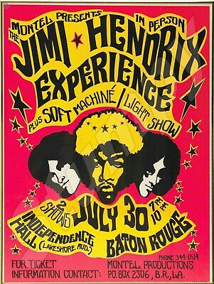 """Jimi Hendrix Experience Concert Poster Metal Sign 9"""" x 12"""""""