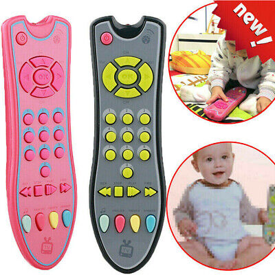 UK Kids TV Remote Control Music Mobile Phone Numbers Electric Early Learning Toy