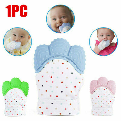Baby Silicone Mitts Teething Mitten Teething Glove Candy Wrapper Soft Teether .
