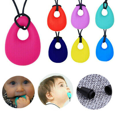 Kids Baby Chewy Necklace Anti Autism ADHD Biting Sensory Chew Teething Toy UK