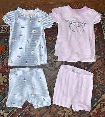 Toddler Girls Size 4 Years 4T White Donut Breakfast Pajamas PJ Set GAP Baby