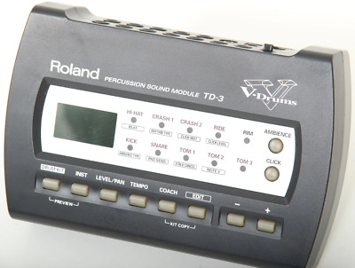 Roland TD-3 Electronic Drum Module Brain Trigger Interface MIDI In/Out