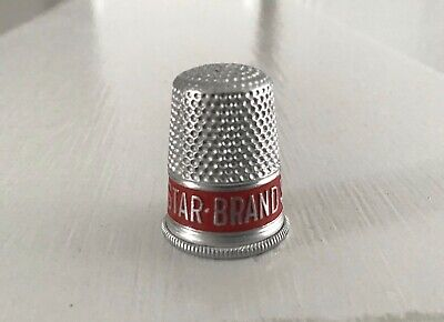 "Vintage Star Brand Shoes Are Better ""Silver"" Red Thimble shoe advertising"