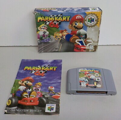 Mario Kart 64 for N64 Game, Box and Manual