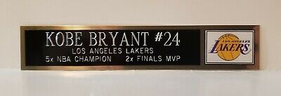 Kobe Bryant Lakers Nameplate for Autographed Basketball Jersey Signed 8x10 Photo