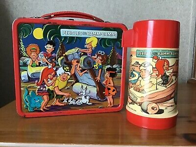 Vintage Pebbles And Bamm- Bamm Lunchbox And Thermos