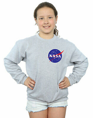 NASA Girls Classic Insignia Chest Logo Sweatshirt