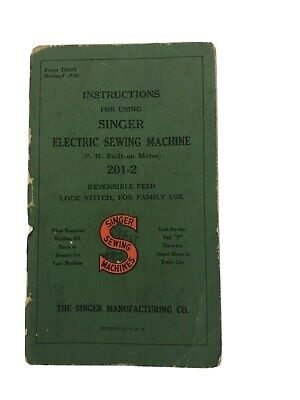 1936 Singer Instructions Electric Sewing Machine Revised (736)
