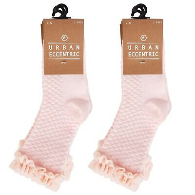 EX CHAINSTORE GIRLS SOCKS  * WITH VELVET TRIM * 3 PAIRS IN A PACK x 2 = 6 PAIRS