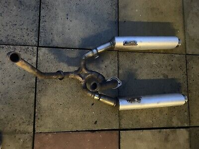 Ducati 620 Monster IE 750 Exhaust System Headers And Standard End Cans