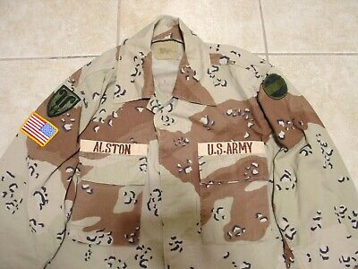 Desert Storm Chocolate Chip 22nd Support bde Size Medium Long BDU Used