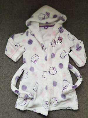 Girls, Hello Kitty Fleecy Dressing Gown, 3-4 Years, Marks And Spencer
