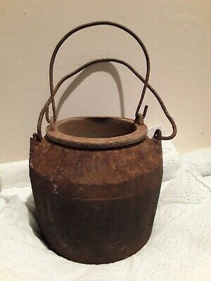 VINTAGE CAST IRON SIDDONS ? No 4 GLUE POT DOUBLE LINER BOILER MELTING SMELTING