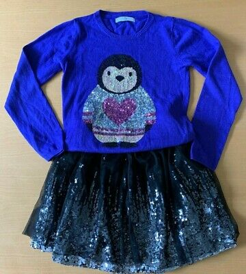 John Lewis Girls sequin party skirt with coordinating jumper (M&S)  9-10 years