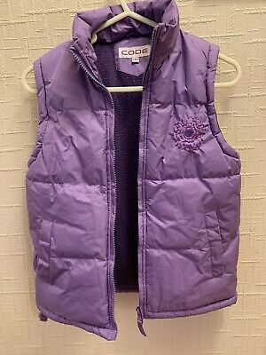 Girls Purple Puffy Bodywarmer Gilet size 8-9 Years excellent condition