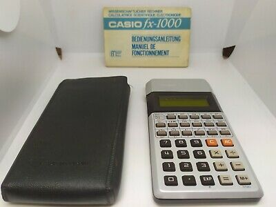VERY RARE 1977 Vintage CASIO fx-1000 Yellow LCD Scientific Calculator w/ manual