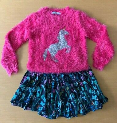 Girls Next skirt & Marks & Spencer coordinating jumper outfit, aged 8-9 years