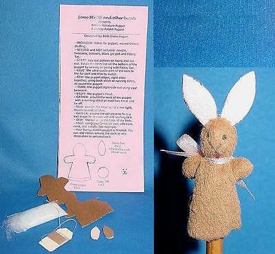 Miniature Bunny Rabbit Puppet Pattern Kit for making Bunny Rabbit puppet