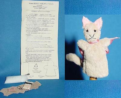 Miniature Kitty-Cat Puppet Pattern Kit for making Kitty-Cat puppet