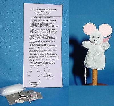 Miniature Mouse Puppet Pattern Kit for making Mouse puppet
