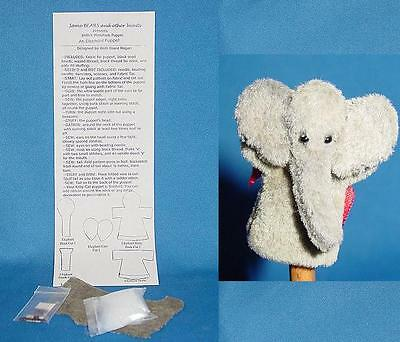 Miniature Elephant Puppet Pattern Kit for making Elephant puppet