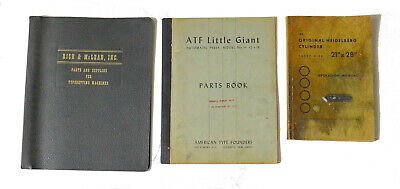Heidelberg, ATF Little Giant & Typset Printing Book Collection - Three Books