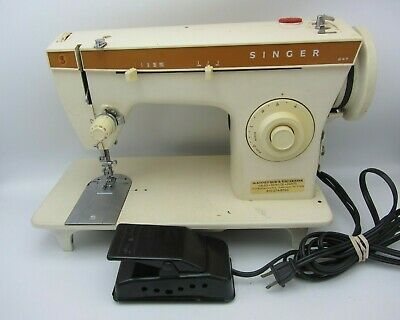 Vtg Singer 247 Zigzag Sewing Machine W Mercury Electric Foot Pedal