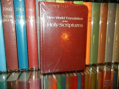 MINT Black Leather Deluxe 1984 New World Translation Bible Watchtower IN WRAP