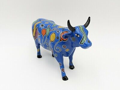 "Cow Parade Westland #9178 ""Party Cow"" With Original Box 2000 Retired Rare"