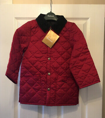 BNWT Girls Barbour Liddesdale padded Bright Pink Jacket Coat Size S 6/7 Years