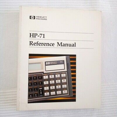 Vintage Reference Manual for HP-71B Calculator Printed Oct 1983