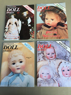 AUSTRALIAN DOLL DIGEST 4 Magazines No. 33, 36, 38, 39 with Paper Doll Cut Outs