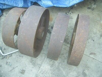 4 Antique cast iron wheels
