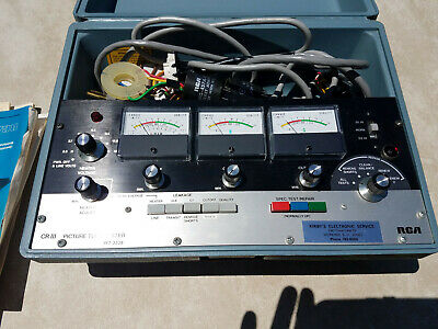 RCA PICTURE TUBE TESTER / RENEWER Model WT-333B CRIII With Adapters and Manuals.