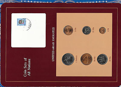Coin Sets of All Nations UAE United Arab Emirates w/card UNC 1973-1984