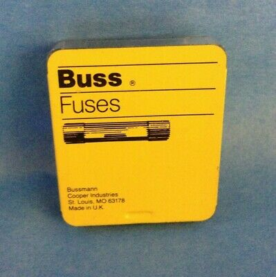 Agc25 Buss Glass Fuses 25 Amp ( 5 Fuses Per Box ) Free Shipping