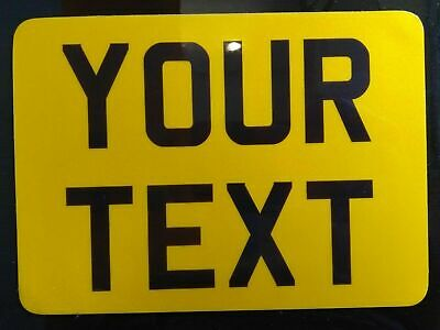 8x6 yellow kids text age motorcycle NOT number plate bike FLEXIBLE PLASTIC