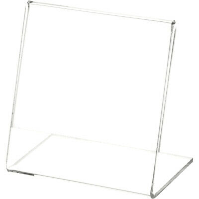 "Plymor Clear Acrylic Sign Display / Literature Holder (Angled), 3.5"" W x 3.5"" H"