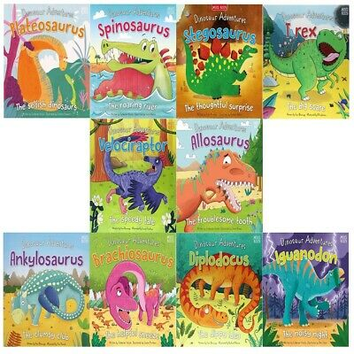 Miles Kelly Dinosaur Adventures 10 Books Children Set PB By Catherine Veitch