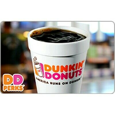 Dunkin' Donuts Gift Card $5 Value, Only $4.50!