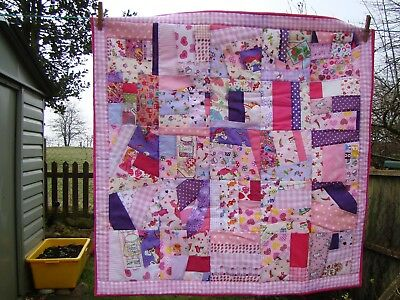 handmade patchwork crazy quilt girly autistic autism girl themed