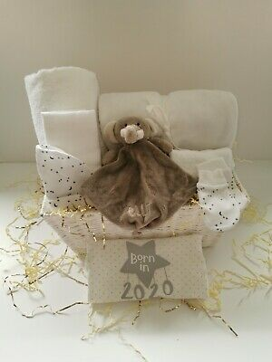 Luxury Grey & White Unisex Baby Hamper
